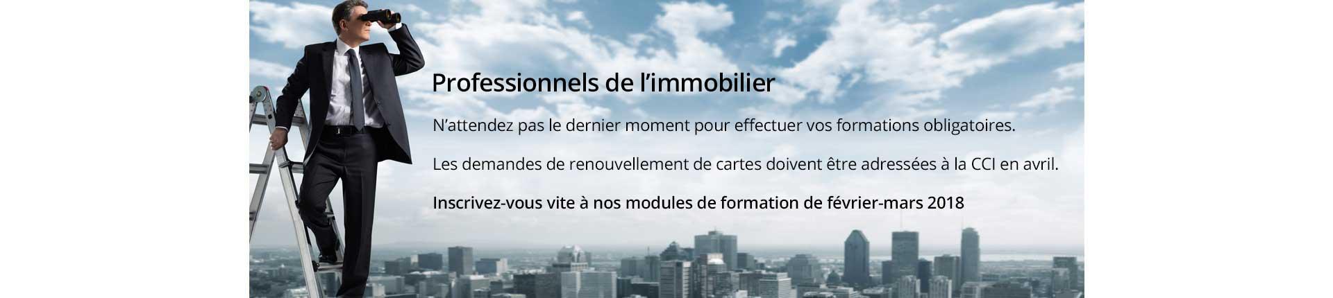 Formation Immobilier fevrier mars 2018